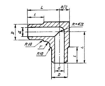 Угольник 2-15-25 мм ст. 12х18Н10Т ГОСТ 22820-83