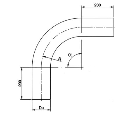 Отвод гнутый 90-273х24 R1200 500x800x3184 ст. 15ГС