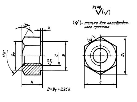 Гайка М52 ст. 14х17н2 ГОСТ 10495-80