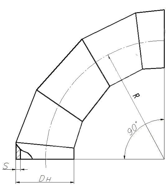 Отвод ОСТ 34-42-663-84 (крутоизогнутый)