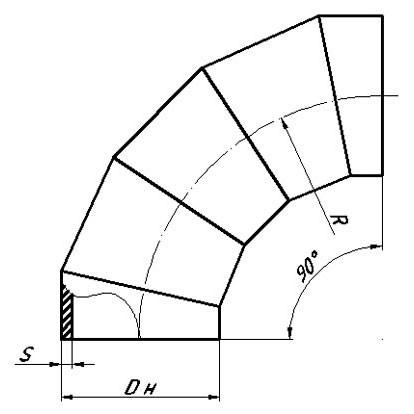 Отвод ОСТ 34-10-752-97 (крутоизогнутый)
