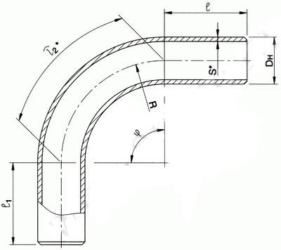 Отвод ОСТ 108.321.22-82 (крутоизогнутый)