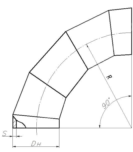 Отвод ОСТ 34-10-753-97 (крутоизогнутый)