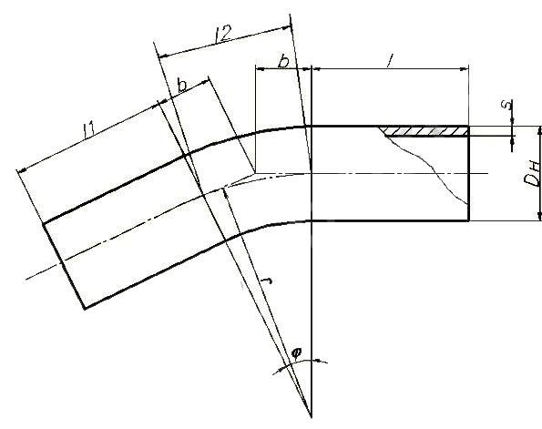 Отводы ОСТ 108.321.19-82 (гнутые)