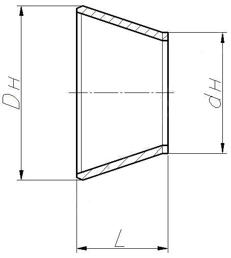 Переход ОСТ 108.318.16-82 (концентрический)