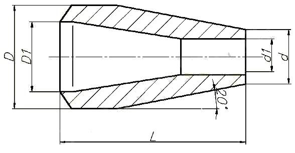 Переход ОСТ 108.450.102-82 (концентрический)