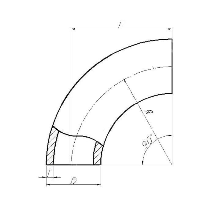 Отвод ТУ 51-467-89 (крутоизогнутый)